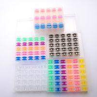 25 36pcs / Set Bobbins Set Set Set Macchina da cucire Bobine Plastica colorata Metallo e Case Storage Box Attrezzature per cucire Accessori Accessori