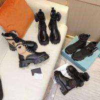 diseñador mujer combate botas tacones gruesos tacones martin tobillos botines de cuero genuino combatido bota ladias plataforma de invierno zapatos de plataforma