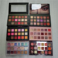Beauté maquillage 18 couleurs Rose Nughty Nude Matte Shimmer Pashadow Palette Plein Taille Taille Mercury Shadow Cosmetics Palettes 6 Styles