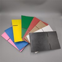 26 * 15 * 18 سنتيمتر 5 قطع الملونة المموج ورقة التعبئة والتغليف الشحن مربع التعبئة والتغليف مربع