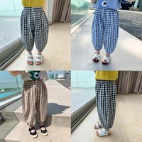 Trousers 2021 Girls Boys Plaid Pants Summer Fashion Kids Clothes 1-6 Years