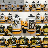 87 Sidney Crosby Pittsburgh Penguins Jerseys Evgeni Malkin Mario Lemieux Chris Letan Matt Murray Patric HornQvist Jack Genzel Hóquei Jersey