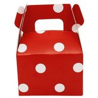 12 unids lunares rayas caja de caramelo caja de caramelo caja de regalo bolsa de regalo envasado de chocolate niños fiesta de cumpleaños decoraciones de boda favor