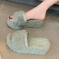 Slippers Women's Fluffy Platform Fashion Plush Indoor Wedge Ytmtloy House Shoes Ladies Sandals Zapatillas Mujer Casa