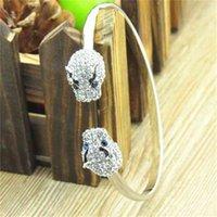 New double leopard head 18 K Gold Austrian element Rhinestone Bracelet women's jewelry