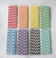 Multi colors Paper Drinking Straws Birthday Wedding Party Event Hawaiian Holidays Luau Sticks KTV Drinking Straws 9922