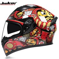 Jiekai Double Lens Motorcycle Helmet Cross Country Country Running Electric Electric Vehicl Women's Winter Cover Full Cover