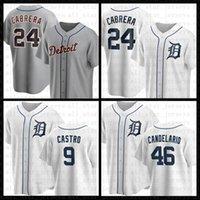 Detroit Baseball Jersey Tigres Custom 24 Miguel Cabrera 23 Kirk Gibson 3 Alan Trammell 47 Jack Morris 9 Willi Castro 46 Jeimer Candelario