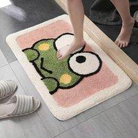 Carpets Bathroom Absorbent Carpet Anime Pure Color Door Mat Heart-shaped Rug Area Household Floor Fluffy