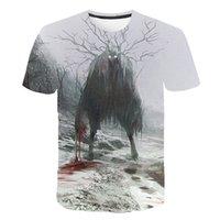 الصيف new2020 رجل الدموي الجمجمة t-shirt الرعب الفيلم تي شيرت مومياء 3d طباعة تي شيرت أفضل بيع طاقم الرقبة قصيرة الأكمام
