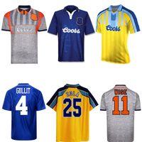 1995 1997 Gullit Zola Wise Hughes Vialli Retro Jersey 95 96 97 Pavão Spencer di Matteo Leboeuf Camisa de Futebol Vintage