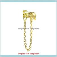 Earrings Jewelrysier Fine Chain Tassel Stud Earring For Engagement Birthday Cute Elephant Piercing Drop Delivery 2021 U4Mhr