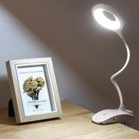 Lampes de table Lampe LED Bureau Touch Clip Touch Student Loupe de cycle de cygne de colonne-cases de bureau USB Light USB rechargeable 1200mAh / 2200mAh batterie