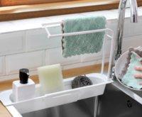 Événement télescopique Cuisine Cuisine Draineur de stockage Banque de rangement Porte-robinet Robinet Réglable Salle de bain Support Cuisine Accessoire 5 V2