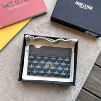Designer de luxo Mens mulheres Faure Card Cartão Clip clip de peixe escala de couro de couro pequeno bolsa de carteiras pequenas com caixa