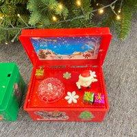 Christmas gift decorations luminous electric lifting Santa Claus music box children's toys new creative gift box
