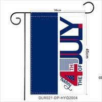 ABD Bağımsızlık Günü Pongee Bahçe Bayrağı 30 * 45 cm Mutlu 4 Temmuz Açık Bahçe Asılı Bayrak Gnomes Tasarım Bahçe Banner DHF8406