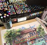 Marker Dokunmatik 48 Renk Çift Kafa Alkol Yağlıboya Kalem Su