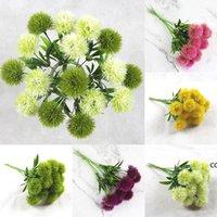 Flores decorativas de estilo único Dandelion Flores artificiales Diente de león Plastic Flower Fiesta Mesa de boda Tablas de la boda 5 Estilo DHB11438