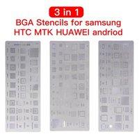 Profesyonel El Aracı Setleri 3 adet Evrensel BGA Şablonlar için MTK Samsung HTC Huawei Android Doğrudan Isıtmalı Reballing Kiti Yüksek Kalite