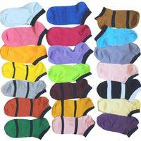 Multicolor Color Meias Ankle Outros Têxteis Home Sem Cardboad Tags Esporte Cheerleaders Black Black Peúso Curto Meninas Mulheres Algodão Esportes Skate Sneaker WY541