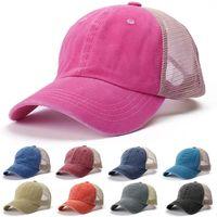 Wide Brim Hats Unisex Cap Casual Plain Mesh Baseball Adjustable Snapback For Women Men Hip Hop Trucker Streetwear Dad Hat #T1P