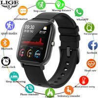 LIGE Smart Watch Men Women smartwatch Sports Fitness Tracker IPX7 Waterproof LED Full Touch Screen suitable For Android ios