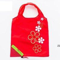Sacos de armazenamento de compras Shopper Sacos Reutilizáveis Sacos de compras portáteis Grande Tamanho Dobrável Morango Convenient Bolsa HWD8441