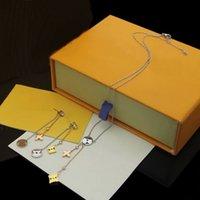 ヨーロッパアメリカファッションスタイルジュエリーセットレディーレディースゴールド/シルバーカラーハードウェアタッセル中空アウトデジタルアウトダイヤモンドペンダントアイディライのネックレスイヤリングQ96413 Q94329
