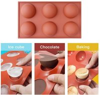 Moule en silicone pour le chocolat, le gâteau, la gelée, le pudding, la forme ronde moitié des moules de bonbons non bâton, des moules en silicone libre BPA pour la cuisson