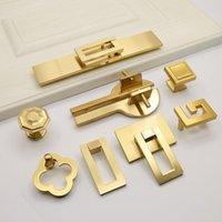 Handles & Pulls 2 Pcs Chinese Wardrobe Door Handle Bronze Gold Cabinet Sub Drawer Furniture Solid Wood Hardware
