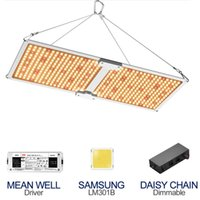 LED grow lights full spectrum ultra thin quantum plate 240W series dimming control box plant growth lamp