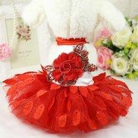 Dog Apparel Floral Vestidos Tutu Para Perros Puppy Dress Wedding Princess Summer Poodle Skirt Pets Clothes Girl