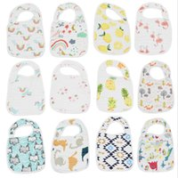 Baby Bibs منديل اللعاب منشفة البوليستر القطن الوليد بروب الملابس 8 طبقات من القطن الطفل تغذية القماش ZYY720
