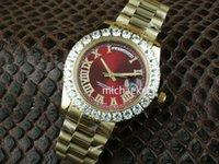 Rolex Omega Cartier Reloj de pulsera de hombre de alta calidad Big Diamond Fecha de día 18K Oro amarillo Asia 2813 Movimiento Reloj automático para hombre