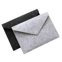 A4 Fieltro Pocket Durable Button Folder Filing Supplies Creative Portable Archival Bag School Office Artículos Archivos Partidores DBC BH4706