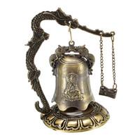 Desktop Feng Shui Chinesische Drache Fengshui Bell Asiatische orientalische Zen-Kunst-kleine geschnitzte Bronze-Sammlerstücke Tibetan für Schreibtisch-Dekor-Segen