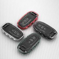Coque de couverture de clé de voiture TPU pour Audi A6L Q5 A4 A5 A7 A7 A7 A8 S6, TROIS BOUTON CLÉ CLÉS POUR LA VOITURE