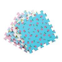 Baby Play Mat 9 Pcs Impressão Temática Crianças Eva Espuma Esteira De Jigsaw Quebra-cabeça Interlocking Exercício Telhas Piso Tapete Pessoas Criança Brinquedo DIY 30x30x1cm H0831