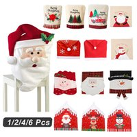 Chair Covers 2021 Year Decor Santa Cover Christmas Decoration Home Dinning Tables Fluffy Chairs