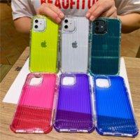 3in1 Bagagem de cor pura PC TPU Capas telefônicas para iPhone 12 11 Pro Promax x XS Max 7Plus 8Plus capa capa