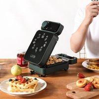 Sanduíche elétrico fabricante cronometrado Waffle fabricante torradeira de cozimento multicooker máquina de café da manhã sandwichera bolo de cozimento 600w