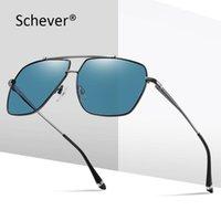Sonnenbrille Schever Marke Polariod Männer / Frauen Luxus Retro Klassische Fahrer Sonnenschirme Männlich / Weibliche Reisebrille UV400 Schutz