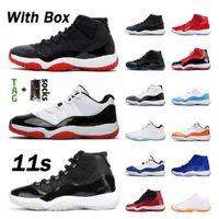 Com caixa 1s 11s homens criados jumpman 23 homens mulheres basquetebol tênis xii 11 lenda azul concord 45 UNC 12S trainersrs sneakers sapato