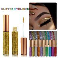 Eyeliner Glitter Sıvı Kalem Elmas Metalik Parlatıcı Göz Farı Liner Kombinasyonu Kalem Gözler Makyaj Glow Göz Farı Kremi Sopa