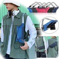 Waist Bags Female Money Phone On Handy Bumbag Motion Waistbag Unisex Banana Pouch Fannypack Hip Bum Bag Belt For Women