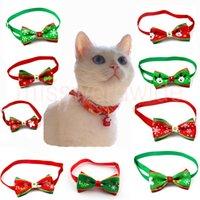 Kerst Serie van Pet Boogdas Stropdaskraag met een Glanzende Rhinestone Hond Kat Huisdier Kerstdecoraties Benodigdheden Accessoires Neck Strap MT20