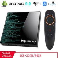 Android TV Box 4GB 32GB 64GB 4K H.265 Media Player 3D Video 2.4G 5GHz Wifi Bluetooth RK3318 Smart TV Box Set top box