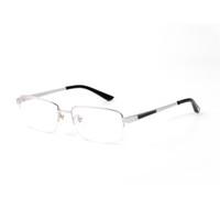 الأزياء النظارات البصرية الإطار التيتانيوم السيدات نظارات نظارات رجالية مصمم عدسة شفافة نصف الإطار شامل وصول جديد مع التعبئة والتغليف