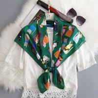 Spring Collo Sciarpa Scialli Lady Wraps Design Stampa Stampa floreale Hijab Foulard Fascia Fascia Neocche Sciarpe Bandana